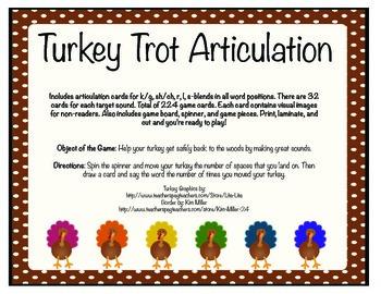 Turkey Trot Articulation