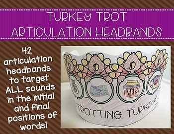 Turkey Trot Articulation Headbands