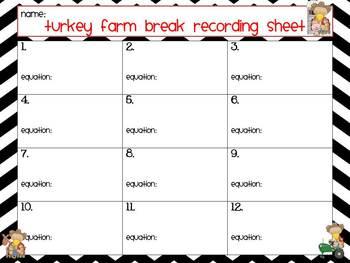 Turkey Trot: Base Ten Math Activities