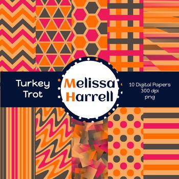 Turkey Trot Digital Papers {Freebie}