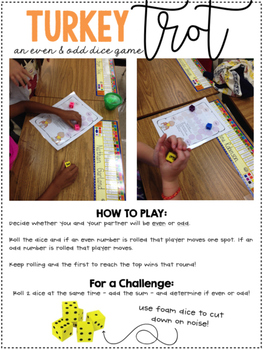 Turkey Trot -  Even & Odd Math Games