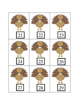 Turkey Trot Game (Letter ID, Letter Sounds, Number ID)