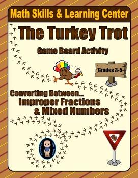 Thanksgiving Math Skills & Learning Center (Improper Fract