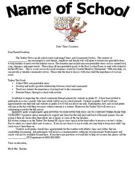 Turkey Trot Letter