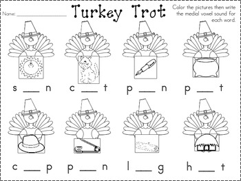 Turkey Trot- Medial vowel sounds