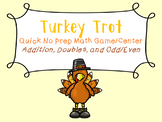 Turkey Trot: No Prep Game to Practice Fact Fluency: Addition, Doubles, and More!