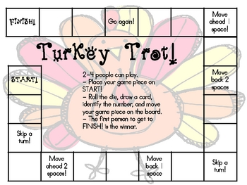 Turkey Trot!  Numbers to 20