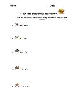 Turkey Trot Numer Line Subtraction