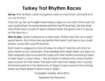 Turkey Trot Rhythm Races: ti-tiri