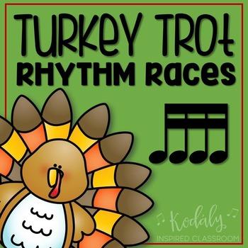 Turkey Trot Rhythm Races: tiri-tiri (four sixteenth notes)