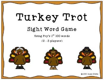 Turkey Trot Sight Word Game