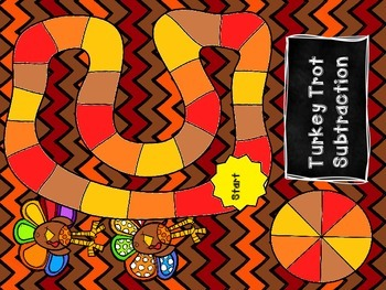 Turkey Trot Subtraction Game