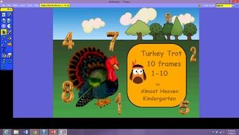 Turkey Trot Ten Frames 1-10