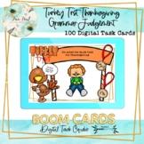 Turkey Trot Thanksgiving Grammar Judgement BOOM Cards – Speech Therapy Distance