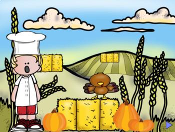 Turkey Trot and Seek: An interactive Thanksgiving sol-la-mi melody game