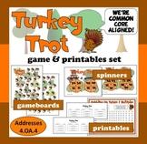 Turkey Trot – factor & multiple math game – Thanksgiving, fall theme