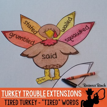 Turkey Trouble Thanksgiving Activity Extensions