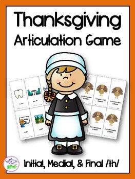 Thanksgiving Articulation Game for Voiceless /th/