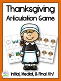 Thanksgiving /th/ Articulation Game for Speech Therapy