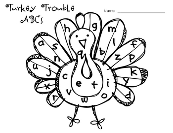 Turkey Trouble ABC's
