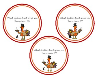 Turkey Trouble: Addition Doubles Task Cards