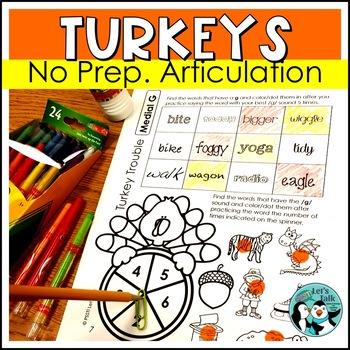 Turkey Trouble Articulation