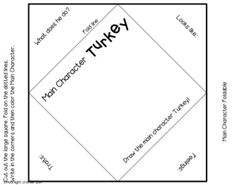 Turkey Trouble Book Companion Foldables