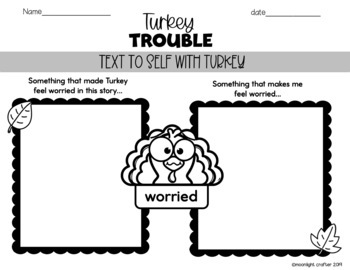 Turkey Trouble Book Companion for Kindergarten