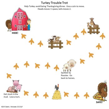 Turkey Trouble!  Companion Activities for Speech & Language