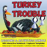 Turkey Trouble Differentiated Reading Interactive Thanksgiving Activities