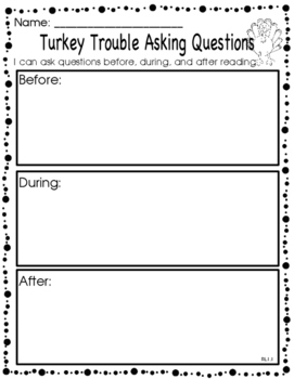 Turkey Trouble ELA Resource Pack and Directed Drawing Craft