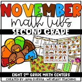 November Math Centers: SECOND GRADE