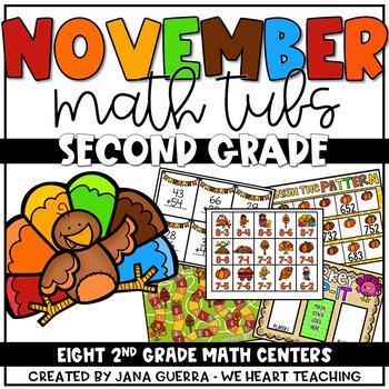 November Math Tubs: SECOND GRADE