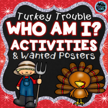 Turkey Trouble Fun - Character Trait & Physical Trait Activities