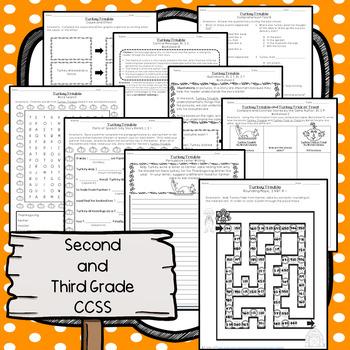 Turkey Trouble CCSS Literacy, Writing, Language, Craftivity and Math Pack