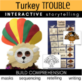 Turkey Trouble Literature Link (Masks, Storytelling, Craft Project, Writing)