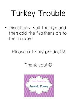 Turkey Trouble - Math Center