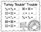 Turkey Trouble Math Center Activities