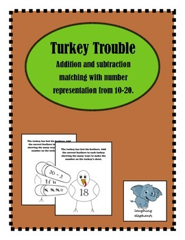 Turkey Trouble Math Game 10-20