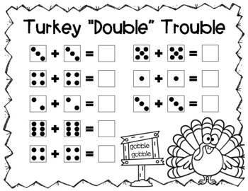 Turkey Trouble Math, Literacy & Craftivity Unit