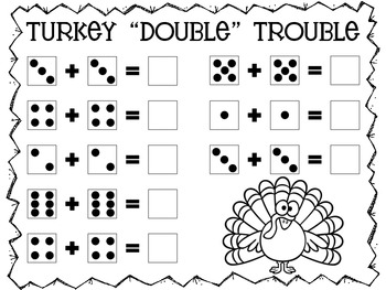 Turkey Trouble Math & Morning Work Activities