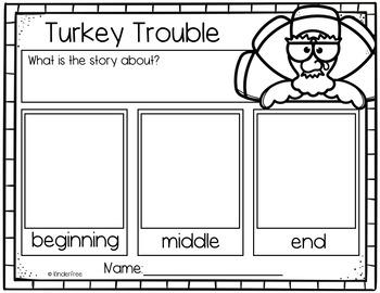 Turkey Trouble No Prep Activity Pack