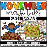 November Math Centers: FIRST GRADE