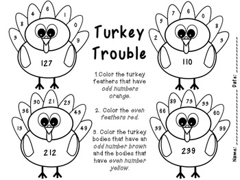 Turkey Trouble: Odds & Evens