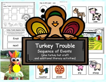 Turkey Trouble Sequence of Events and Other Literacy Activities