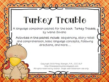 Turkey Trouble - Speech and Language Activities (Book Comp