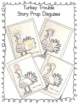 Turkey Trouble Story Prop Disguises Activity