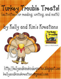Turkey Trouble Treats! {activities for reading, writing, & math}