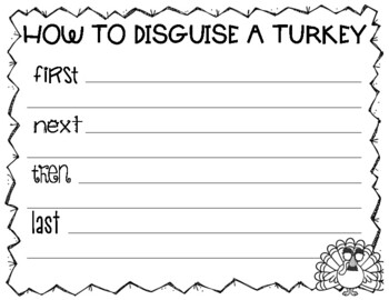 Turkey Trouble Writer's Workshop & Morning Work Literacy Activities