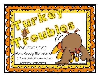 Turkey Troubles! {A CVC Decoding Flash Card Game}